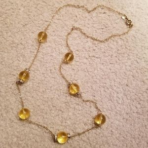 J. Crew Large Yellow Bead Necklace